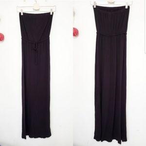 OLD NAVY Strapless black maxi dress XS
